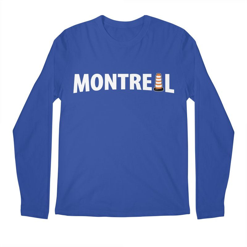 Montreal Traffic Cone Men's Longsleeve T-Shirt by Pete Styles' Artist Shop