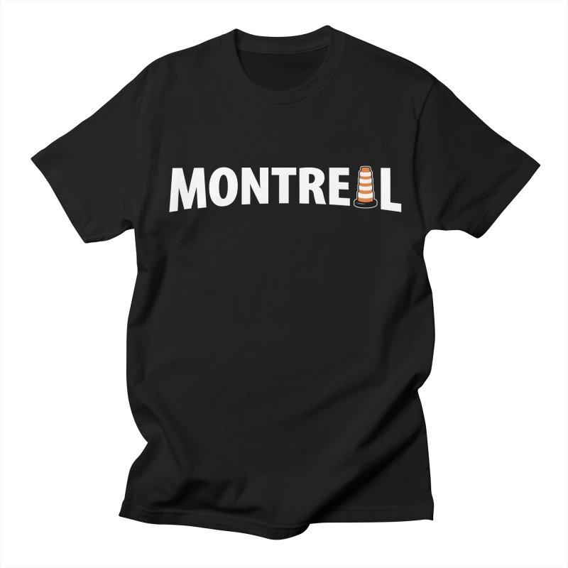 Montreal Traffic Cone Men's Regular T-Shirt by Wasabi Snake