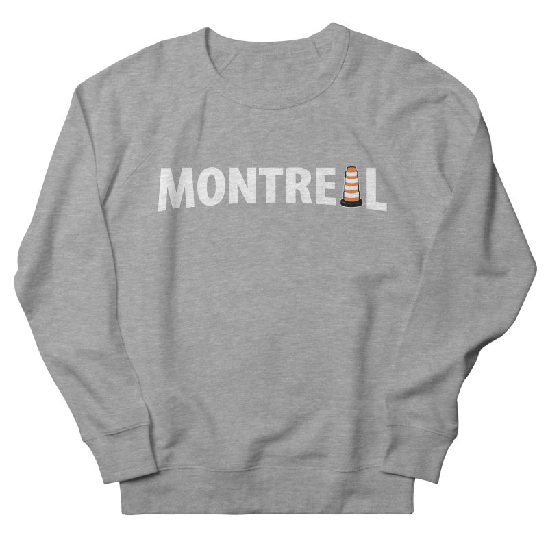 Montreal Traffic Cone Women's French Terry Sweatshirt by Wasabi Snake