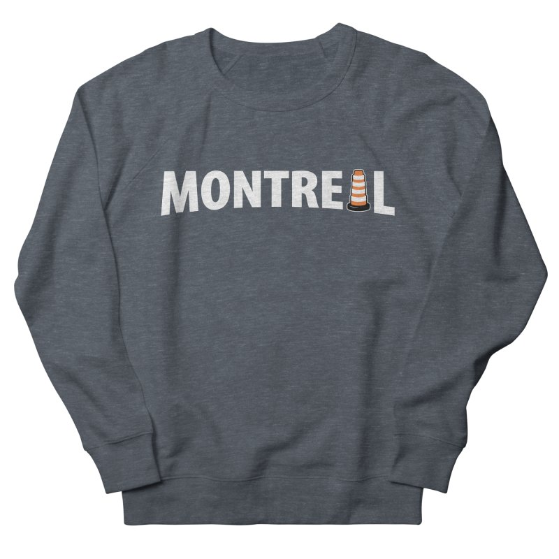 Montreal Traffic Cone Men's French Terry Sweatshirt by Wasabi Snake