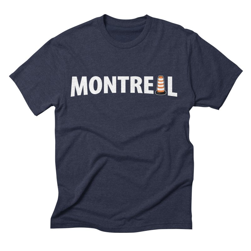 Montreal Traffic Cone Men's Triblend T-Shirt by Wasabi Snake