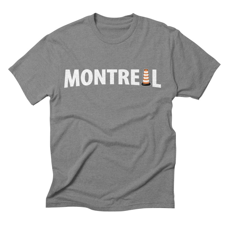 Montreal Traffic Cone Men's Triblend T-Shirt by Pete Styles' Artist Shop