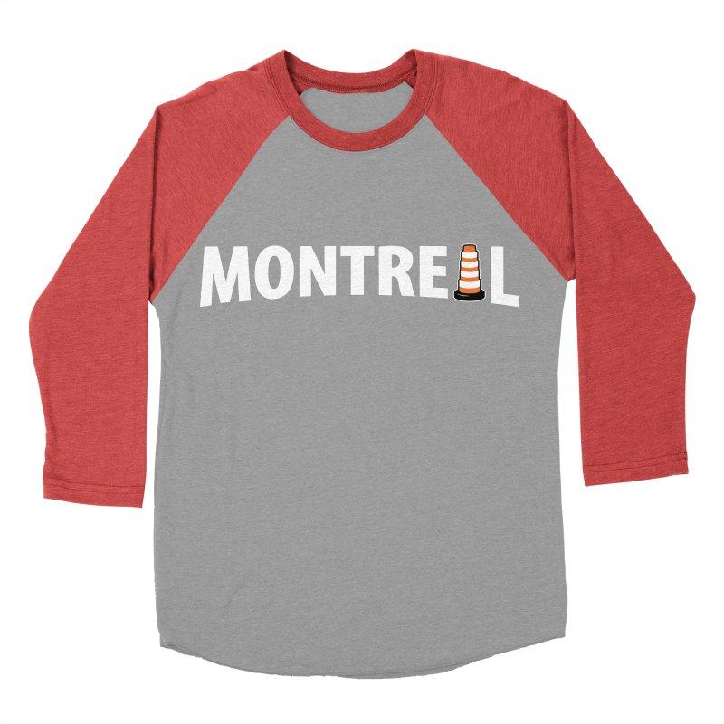 Montreal Traffic Cone Women's Baseball Triblend Longsleeve T-Shirt by Wasabi Snake