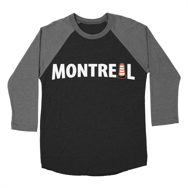 Montreal Traffic Cone Women's Baseball Triblend T-Shirt by Pete Styles' Artist Shop