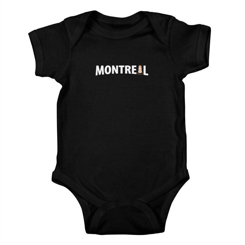 Montreal Traffic Cone Kids Baby Bodysuit by Wasabi Snake