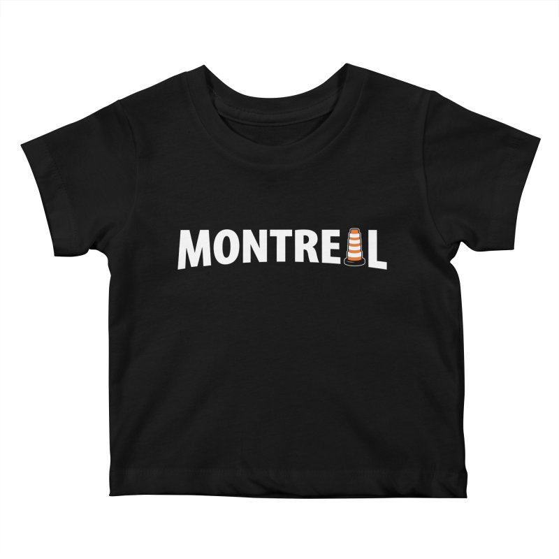 Montreal Traffic Cone Kids Baby T-Shirt by Pete Styles' Artist Shop