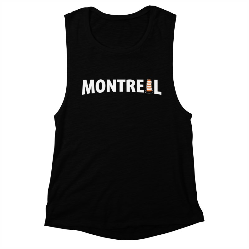 Montreal Traffic Cone Women's Muscle Tank by Wasabi Snake