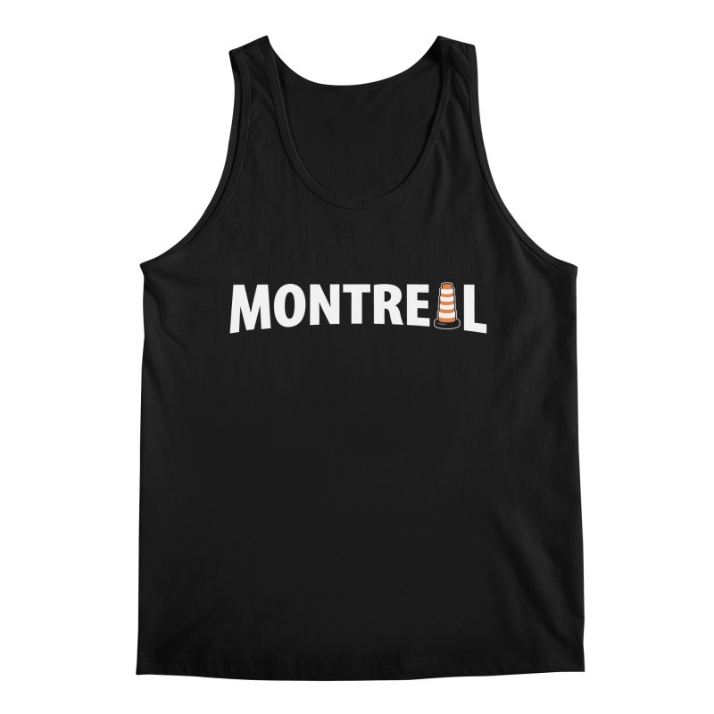 Montreal Traffic Cone Men's Regular Tank by Wasabi Snake