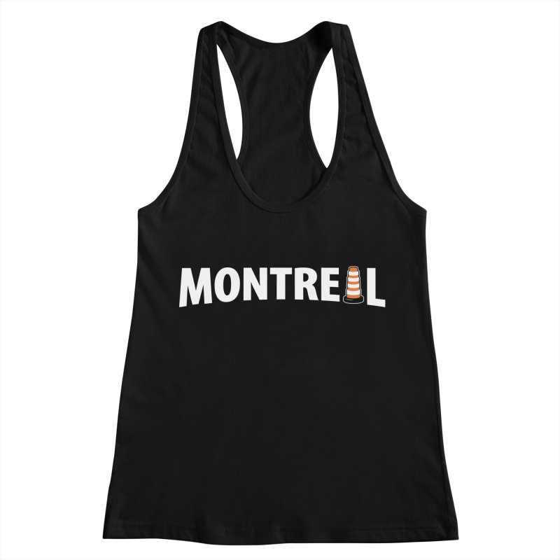 Montreal Traffic Cone Women's Racerback Tank by Wasabi Snake
