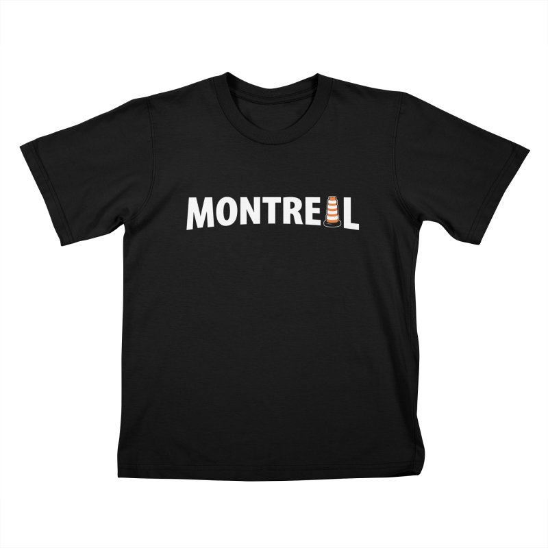 Montreal Traffic Cone Kids T-Shirt by Wasabi Snake
