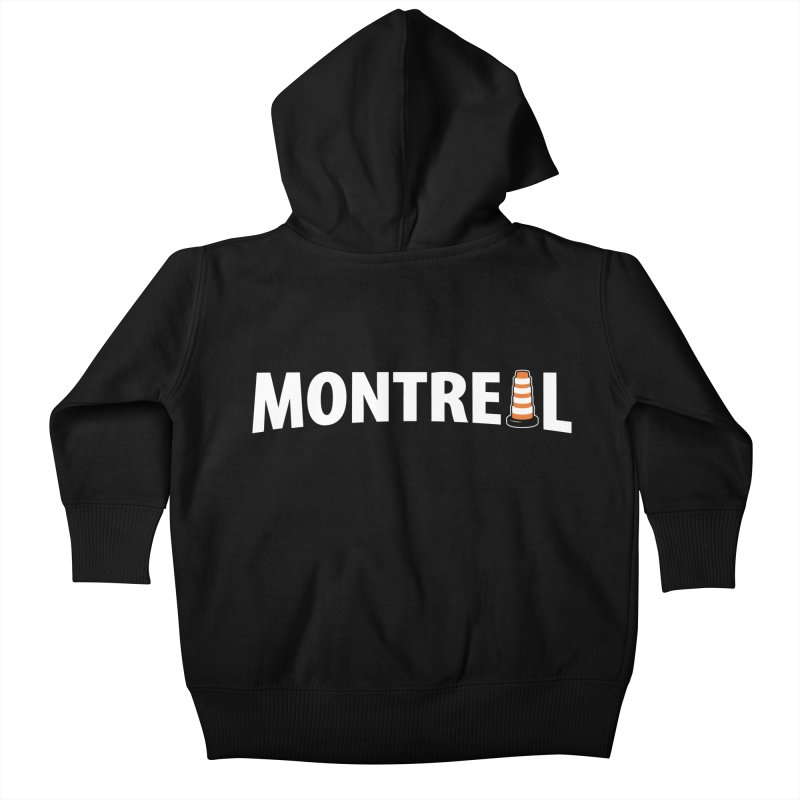 Montreal Traffic Cone Kids Baby Zip-Up Hoody by Wasabi Snake
