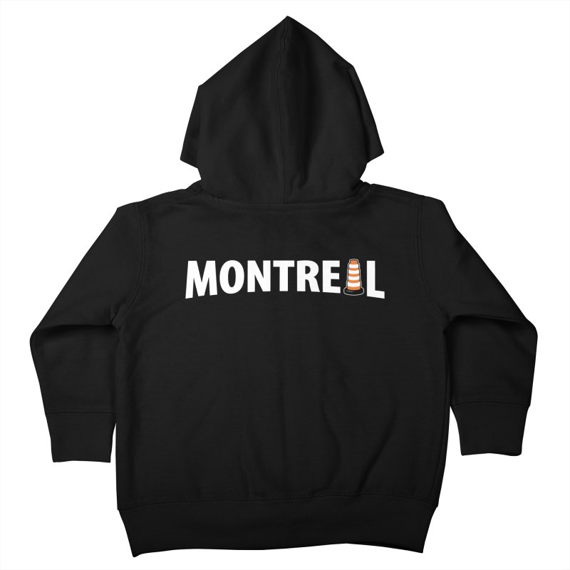 Montreal Traffic Cone Kids Toddler Zip-Up Hoody by Wasabi Snake