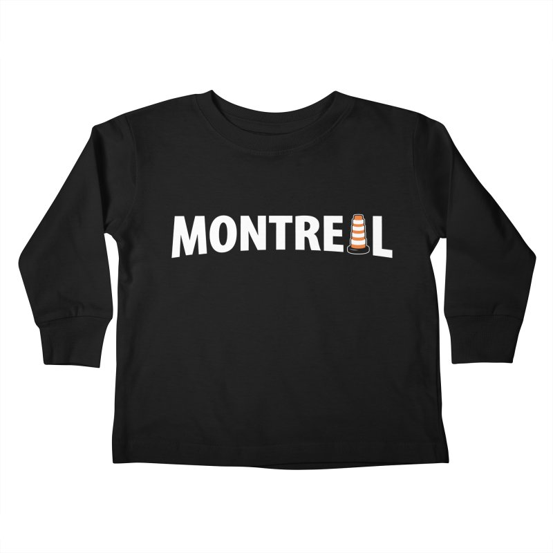 Montreal Traffic Cone Kids Toddler Longsleeve T-Shirt by Wasabi Snake