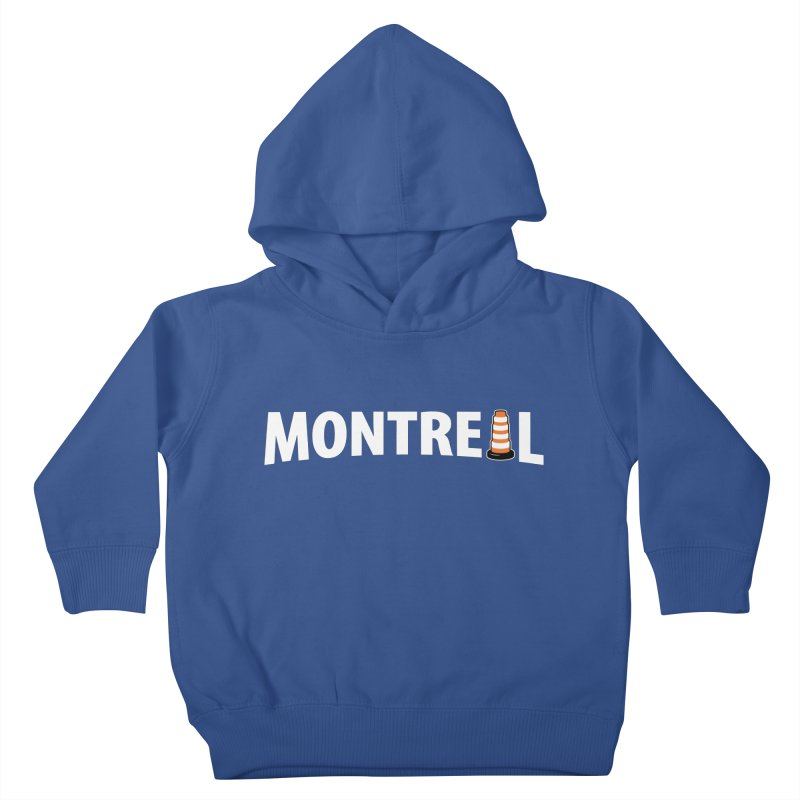 Montreal Traffic Cone Kids Toddler Pullover Hoody by Wasabi Snake