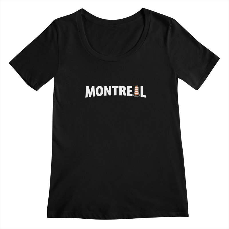 Montreal Traffic Cone Women's Regular Scoop Neck by Wasabi Snake