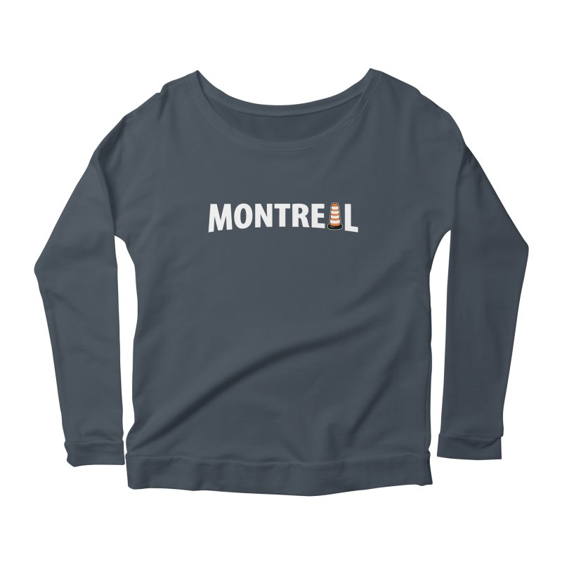 Montreal Traffic Cone Women's Scoop Neck Longsleeve T-Shirt by Wasabi Snake