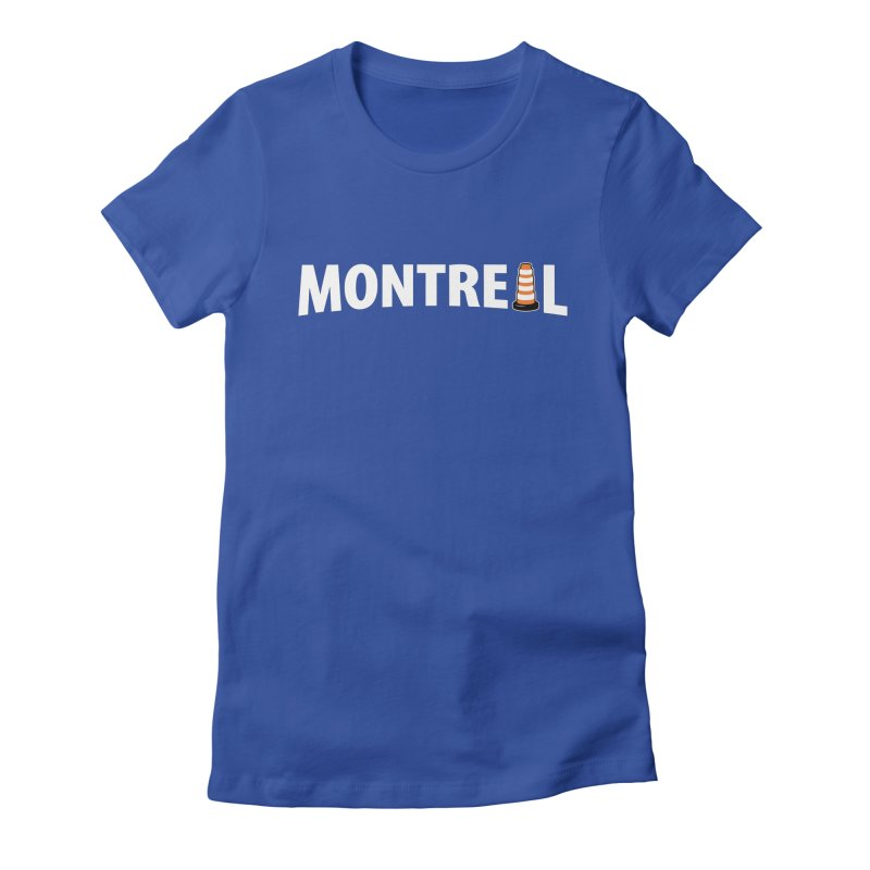 Montreal Traffic Cone Women's Fitted T-Shirt by Wasabi Snake