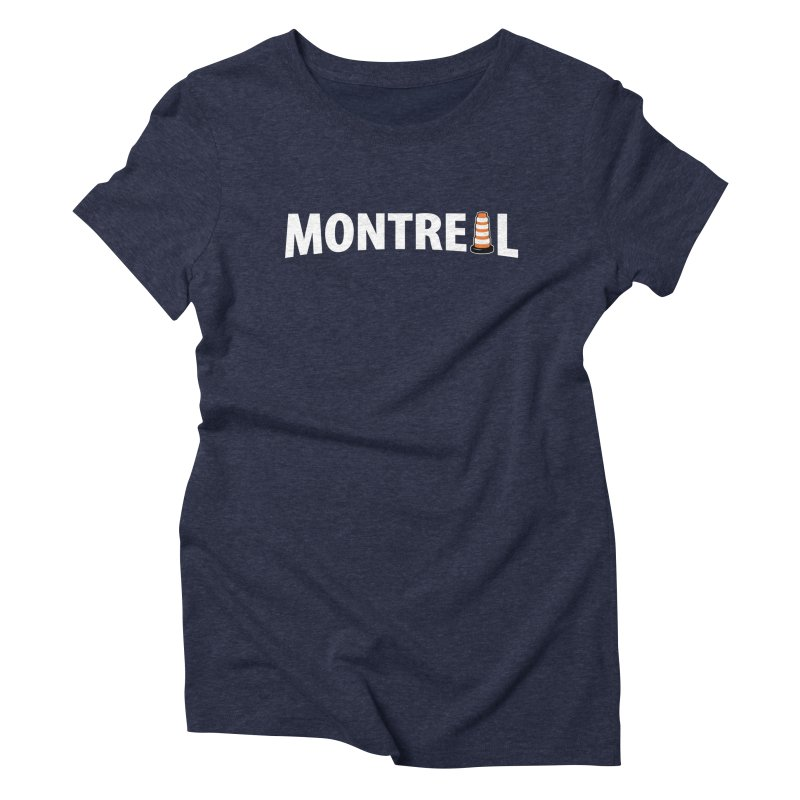 Montreal Traffic Cone Women's Triblend T-Shirt by Wasabi Snake