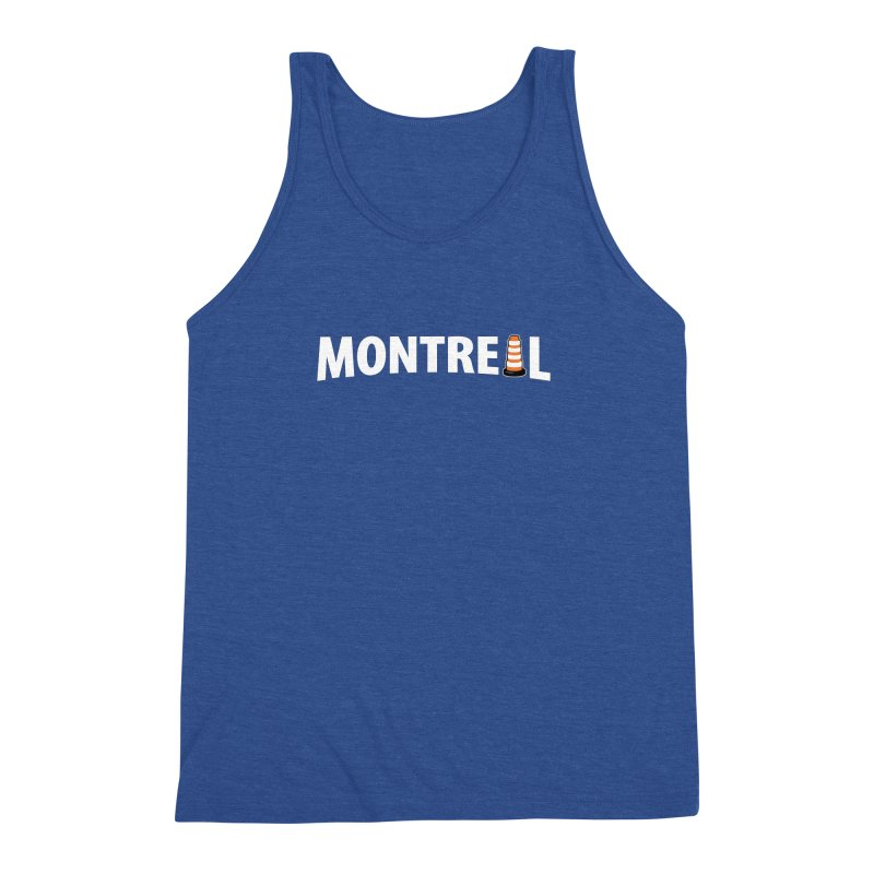 Montreal Traffic Cone Men's Triblend Tank by Wasabi Snake