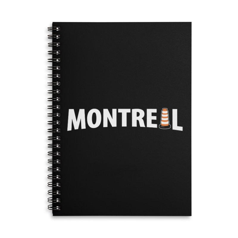 Montreal Traffic Cone Accessories Lined Spiral Notebook by Wasabi Snake