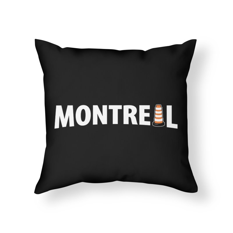 Montreal Traffic Cone Home Throw Pillow by Wasabi Snake