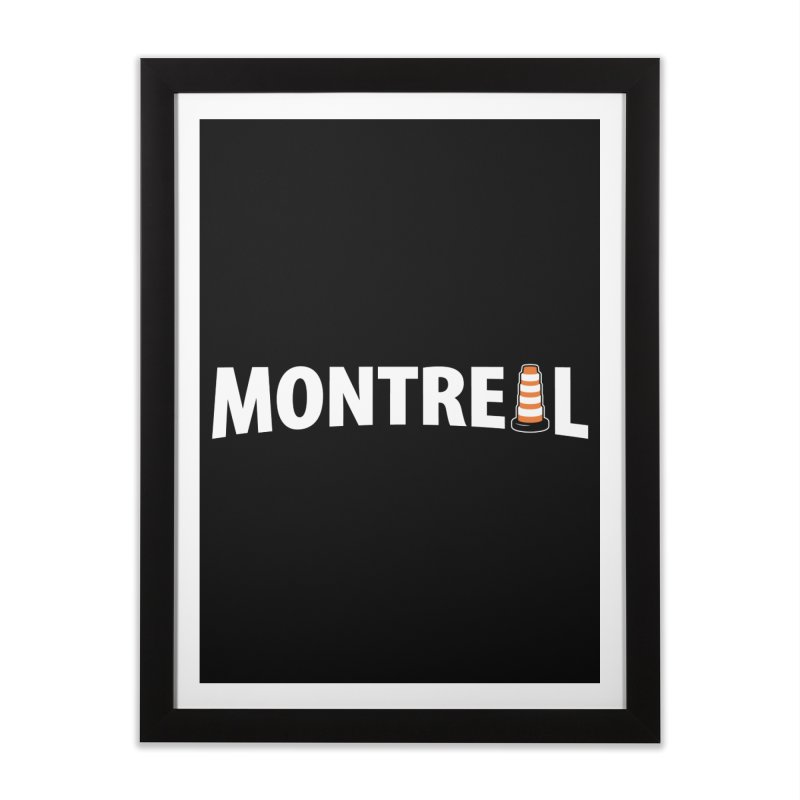 Montreal Traffic Cone Home Framed Fine Art Print by Wasabi Snake
