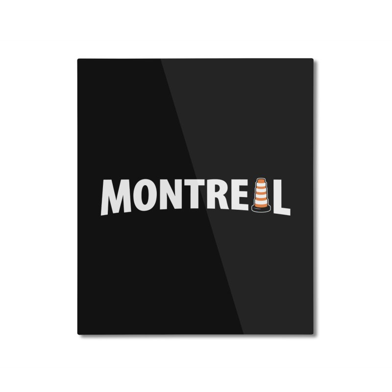 Montreal Traffic Cone Home Mounted Aluminum Print by Wasabi Snake
