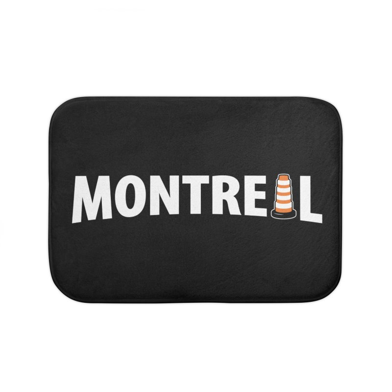 Montreal Traffic Cone Home Bath Mat by Wasabi Snake