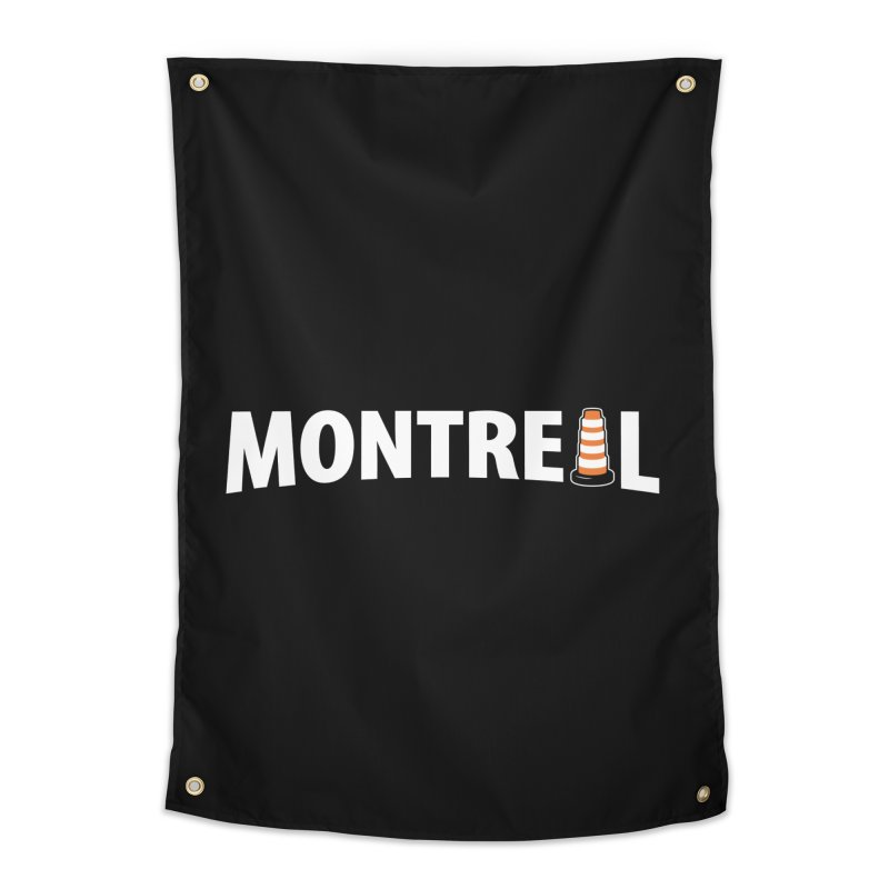 Montreal Traffic Cone Home Tapestry by Wasabi Snake