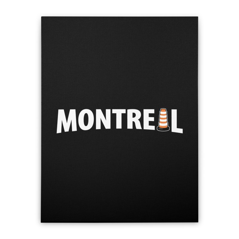 Montreal Traffic Cone Home Stretched Canvas by Wasabi Snake