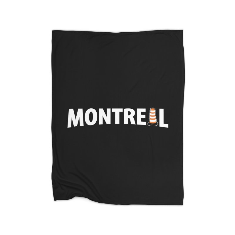 Montreal Traffic Cone Home Blanket by Wasabi Snake