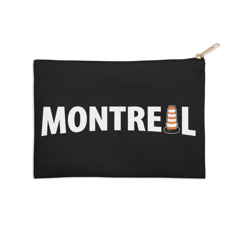 Montreal Traffic Cone Accessories Zip Pouch by Pete Styles' Artist Shop