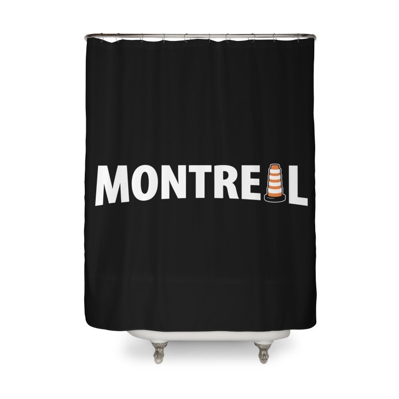 Montreal Traffic Cone Home Shower Curtain by Wasabi Snake