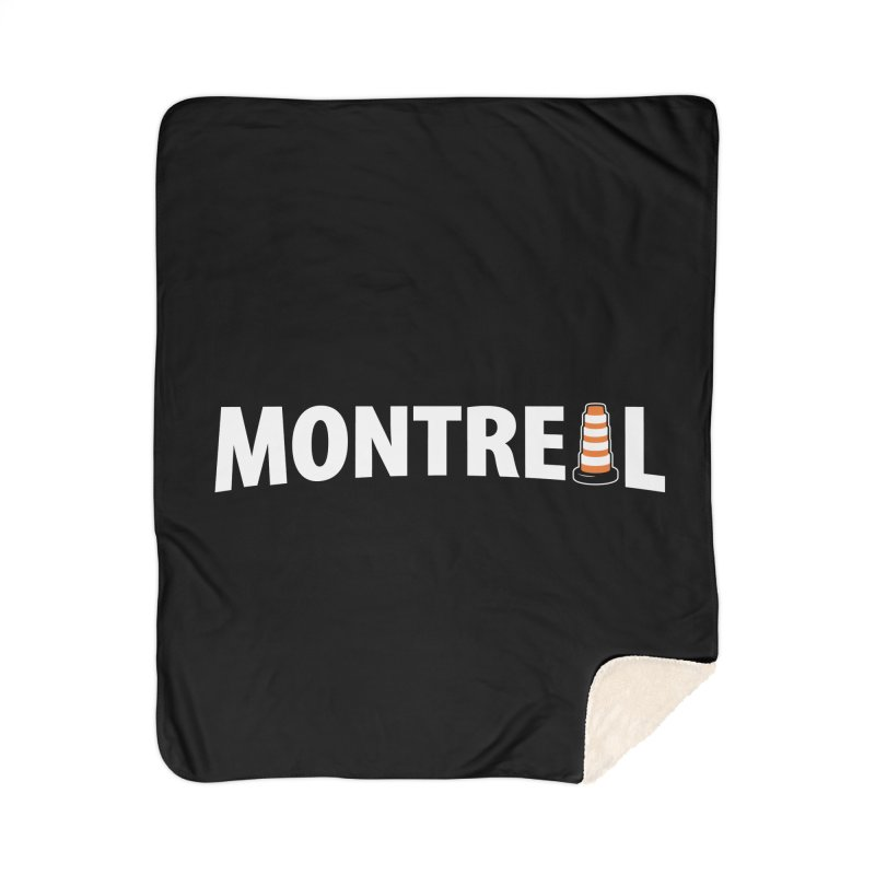 Montreal Traffic Cone Home Sherpa Blanket Blanket by Wasabi Snake