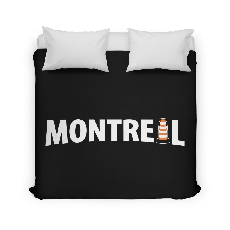 Montreal Traffic Cone Home Duvet by Wasabi Snake