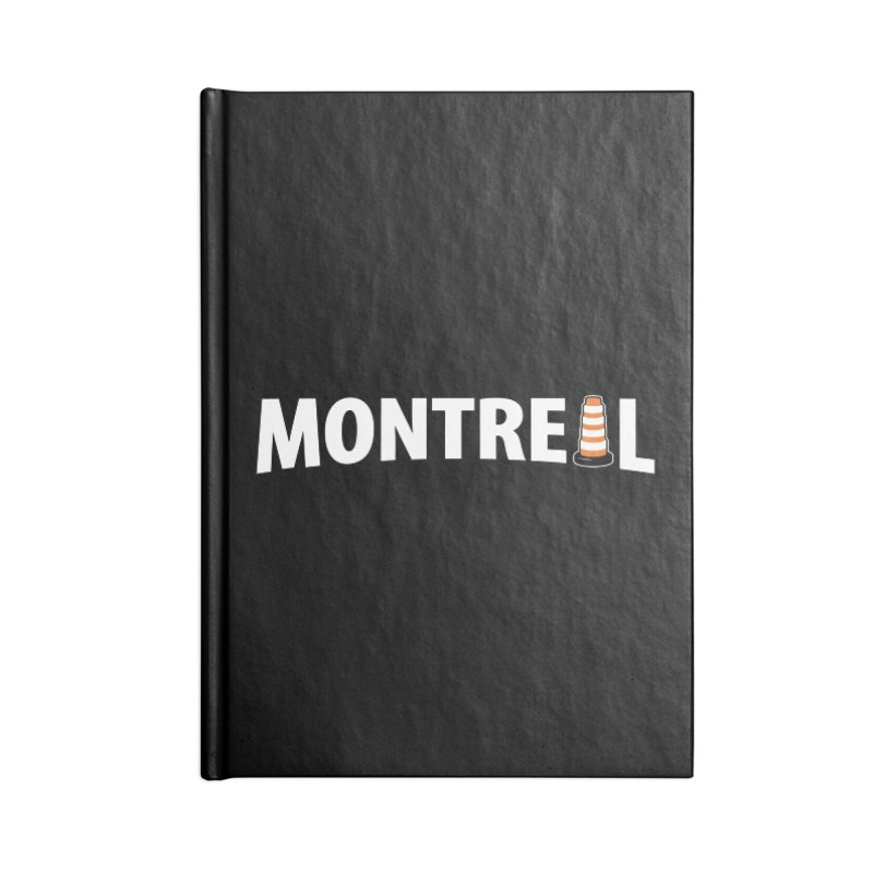 Montreal Traffic Cone Accessories Lined Journal Notebook by Wasabi Snake
