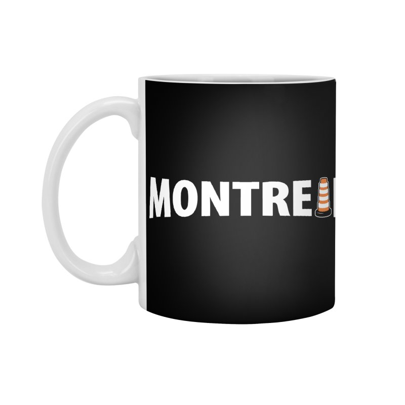 Montreal Traffic Cone Accessories Standard Mug by Wasabi Snake