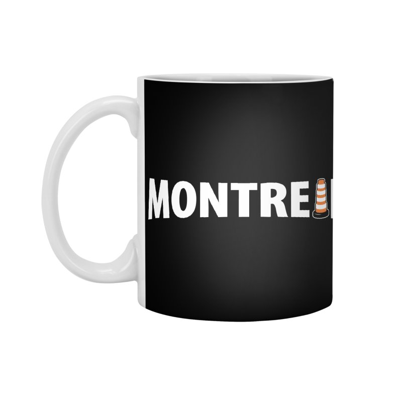Montreal Traffic Cone Accessories Mug by Pete Styles' Artist Shop