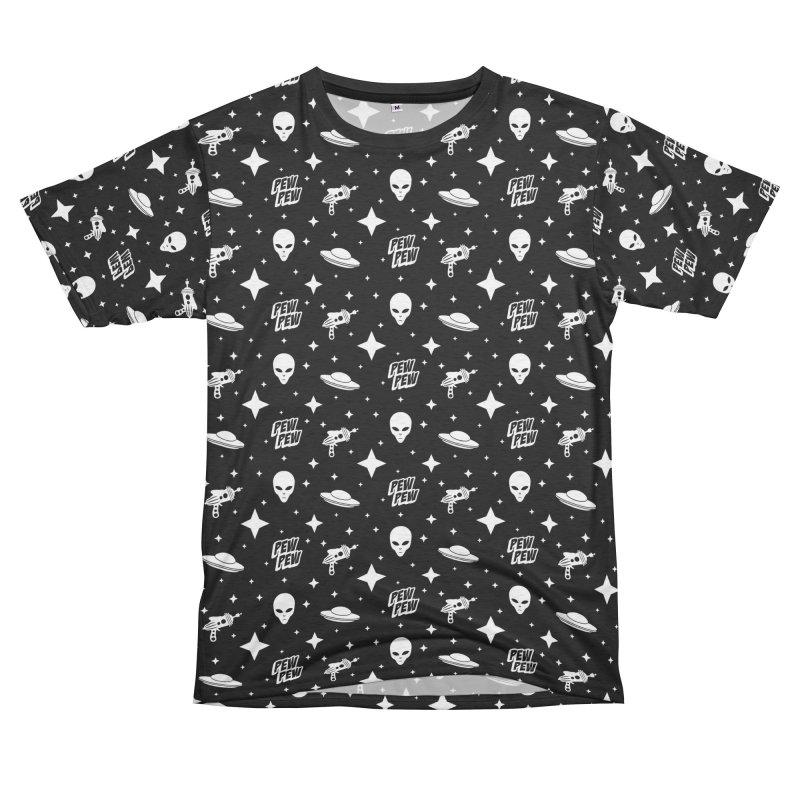 Alien Invasion Men's French Terry T-Shirt Cut & Sew by Wasabi Snake