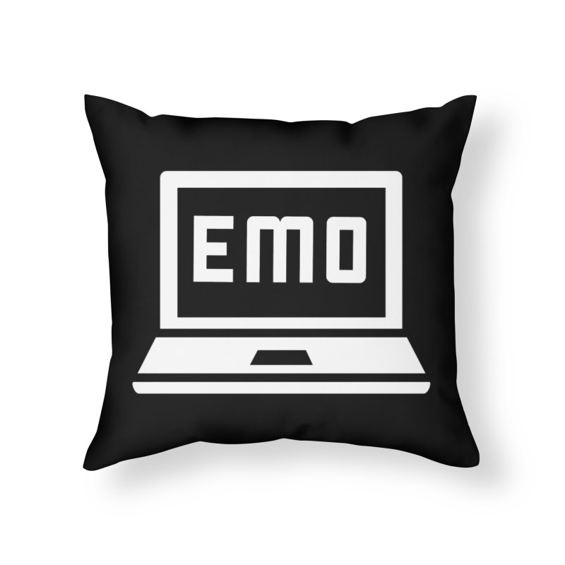 Stop All The Downloading Home Throw Pillow by Washed Up Emo