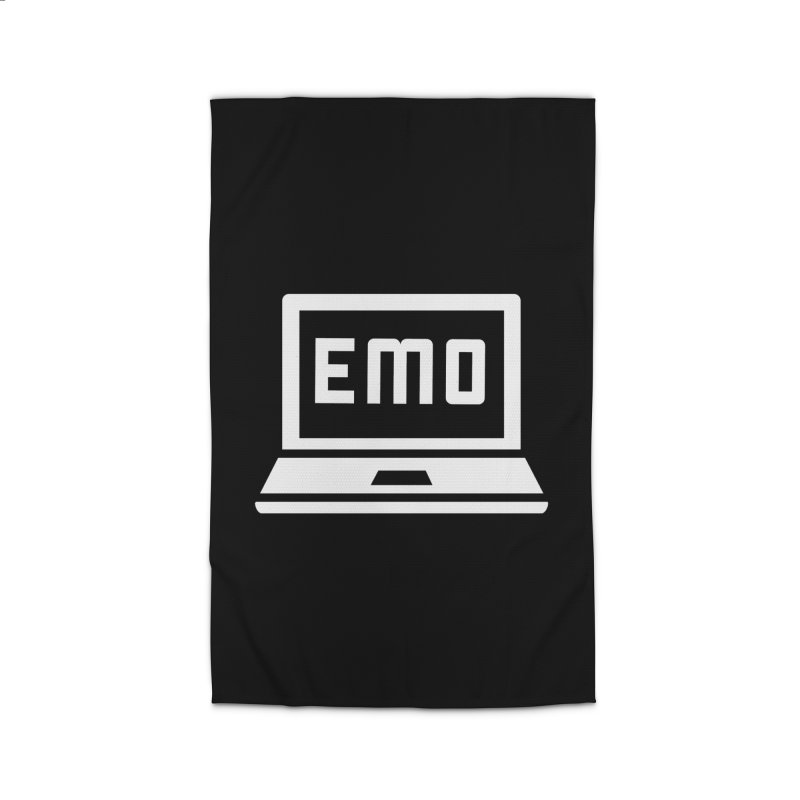 Stop All The Downloading Home Rug by Washed Up Emo