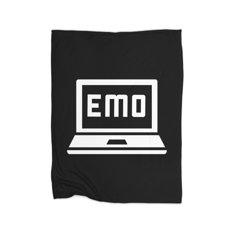 Stop All The Downloading Home Fleece Blanket Blanket by Washed Up Emo
