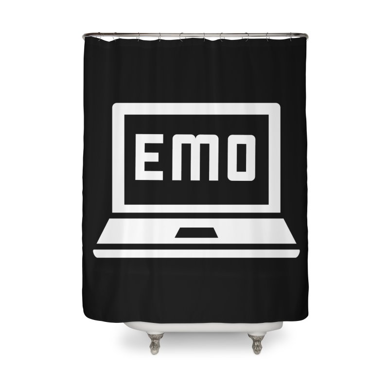 Stop All The Downloading Home Shower Curtain by Washed Up Emo