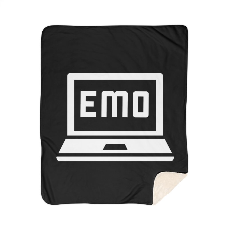 Stop All The Downloading Home Sherpa Blanket Blanket by Washed Up Emo