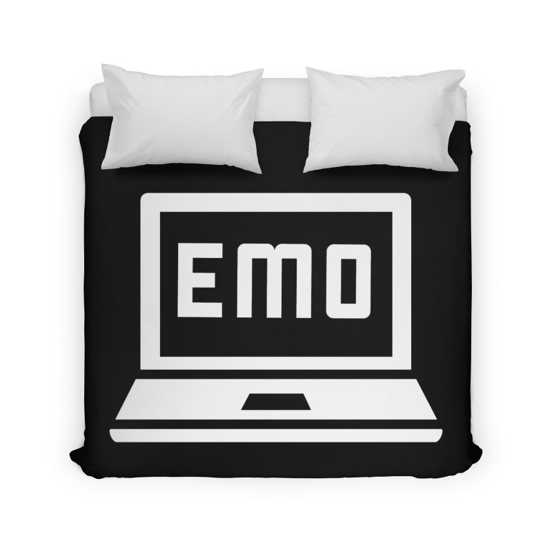 Stop All The Downloading Home Duvet by Washed Up Emo