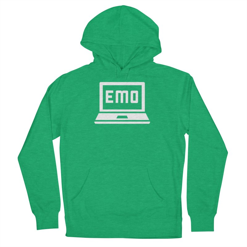 Stop All The Downloading Men's French Terry Pullover Hoody by Washed Up Emo