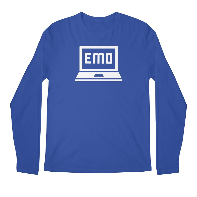 Stop All The Downloading Men's Regular Longsleeve T-Shirt by Washed Up Emo