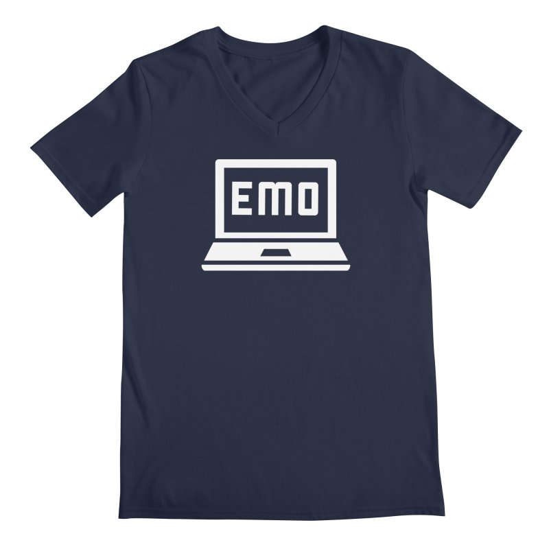 Stop All The Downloading Men's Regular V-Neck by Washed Up Emo