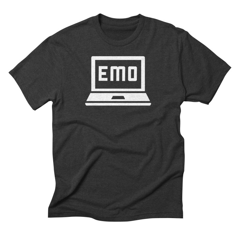 Stop All The Downloading in Men's Triblend T-shirt Heather Onyx by Washed Up Emo