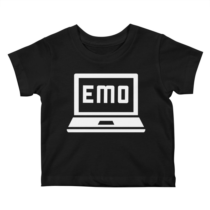 Stop All The Downloading Kids Baby T-Shirt by Washed Up Emo